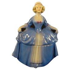Porcelain Dresser Doll - Madame Pompadour with Blue Dress
