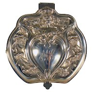 Large Art Nouveau Silver Plated Jewelry Box with Nude Figure (Derby)