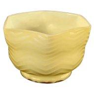 Butterscotch Herringbone Satin Glass Bowl