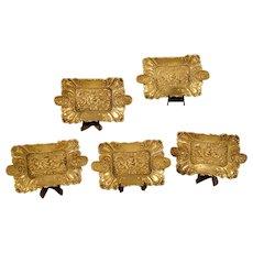 Set of Five German Ash Receivers (800 Silver)