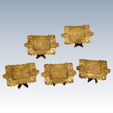 Set of Five German Ash Receivers (800 Silver)