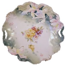 Large R.S. Prussia Hidden Images Hand Painted Porcelain Bowl