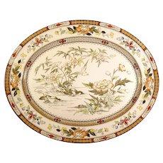 Large English Polychrome Serving Platter - 1880's