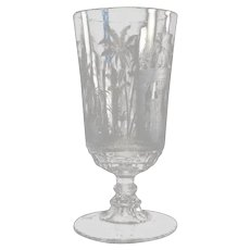 Etched Glass Celery - 1870's