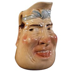 Majolica Sarreguemines Face Jug