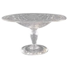 Pairpoint Cut Glass Compote
