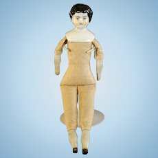 German Porcelain Doll with Cloth Body