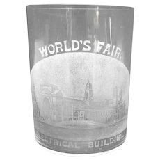 World's Fair Drinking Glass - Electrical Building