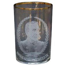 Admiral George Dewey U.S.N. Whiskey Glass