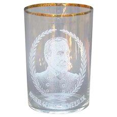 Admiral George Dewey U.S.N. Whiskey Glass