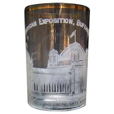 Pan American Exposition Whiskey Glass - Buffalo, NY - 1901 - Manufacturers and Liberal Arts Building