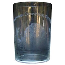 Pan American Exposition Whiskey Glass - Buffalo, NY - 1901 - The Temple of Music