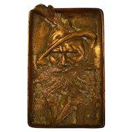 Austrian Figural Iron Tray - Signed Witkowitz