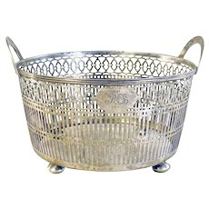 Tiffany Double Handled Reticulated Basket