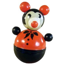 Early Celluloid Pie-Eyed Mickey Mouse Roly-Poly