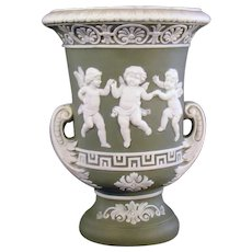 Schafer & Vater Two-Handled Urn Vase - Three Dancing Cupids