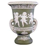 Schafer & Vater Two-Handled Urn Vase - Three Dancing Cupids
