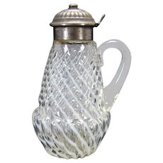 Sheldon Swirl Opalescent Syrup Pitcher