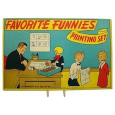 Comic Character Stamp Printing Set - 1930's