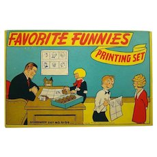 Comic Character Stamp Printing Set - 1930's