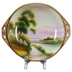 Hand Painted Scenic Nippon Bowl