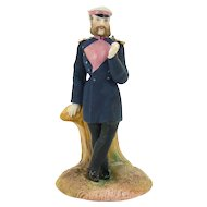 Civil War Soldier Match or Toothpick Holder