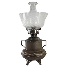 Unusual Two-handled Urn-Shaped Kerosene Lamp - 1880's
