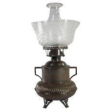 Unusual Two-handled Urn-Shaped Kerosene Lamp - 1880's