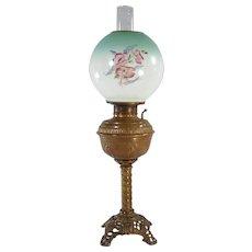 All Original Banquet Lamp with Brass Spiral Column - 1880's