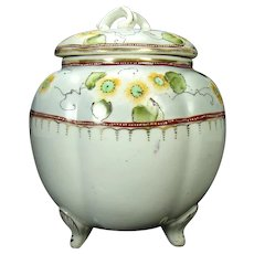 Hand Painted Nippon Porcelain Biscuit Jar