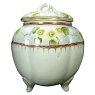 Hand Painted Nippon Porcelain Biscuit Jar
