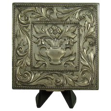 Sterling Volupte Repoussé Ladies Compact