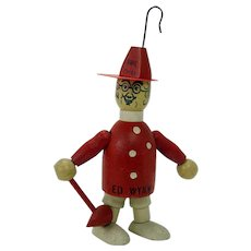 Ed Wynn the Fire Chief Wood Jointed Doll