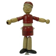 Little Orphan Annie Wood Jointed Doll