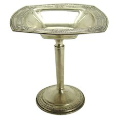 Signed Sterling Embossed Compote with Pedestal