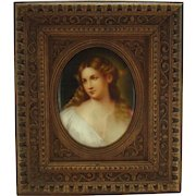 KPM Hand Painted Porcelain Plaque with Beautiful Woman - 1880's