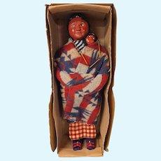 """Skookums Indian mother with baby, in original box, 15"""""""