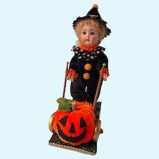 K star R Halloween girl, with pumpkin