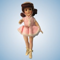 Mary Hoyer in Knitted skating outfit, Mohair wig, 14""