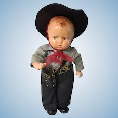 """Baby Grumpy Cowboy, all original, 12"""" Effanbee"""