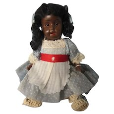 "Small dark skin toddler, marked  Germany R, 7"""