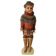 "Greenland Eskimo boy, AM 370, in Amazing Outfit, 15"""
