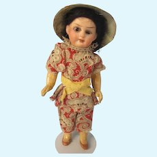 "Small Oriental bisque, all original, 6"" tall"