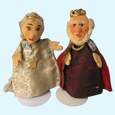 Kersa Puppet Pair, King and Queen, 1950's Very good