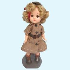 "Hard Plastic 8"" Brownie, original outfit tagged Terri Lee"