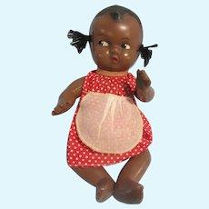 "Cute African American composition toddler, original dress, 11"""