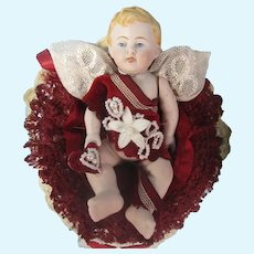 All Bisque German Baby in Valentine display.