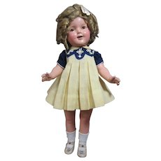 """Shirley Temple, 20"""" all original, tagged dress"""