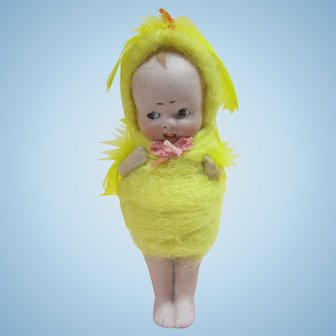 """All bisque Baby Bud type, as a chick, 6"""""""