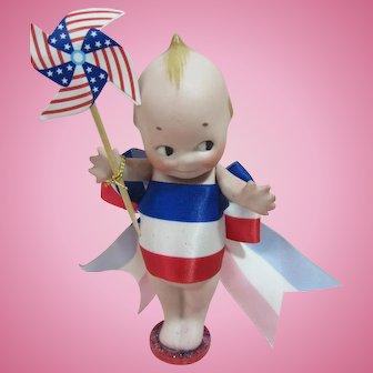 """Kewpie, 4 1/2"""" Patriotic, 4th of July"""